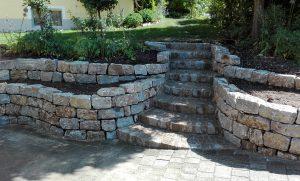 Natursteinmauer Muschelkalk